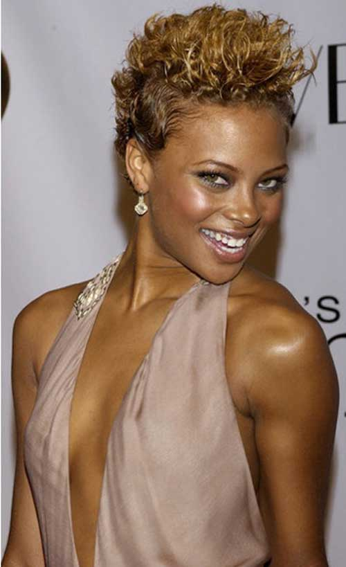 Short blonde haircuts for black women