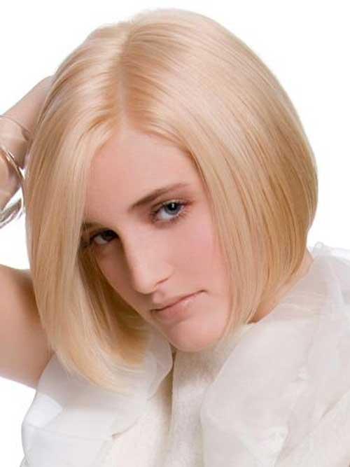 Short blonde streaks hairstyles