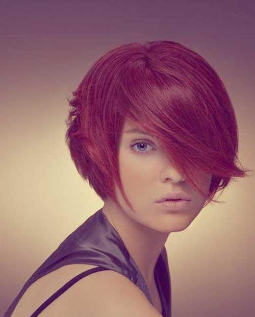 Short bob hairstyle photos with bangs