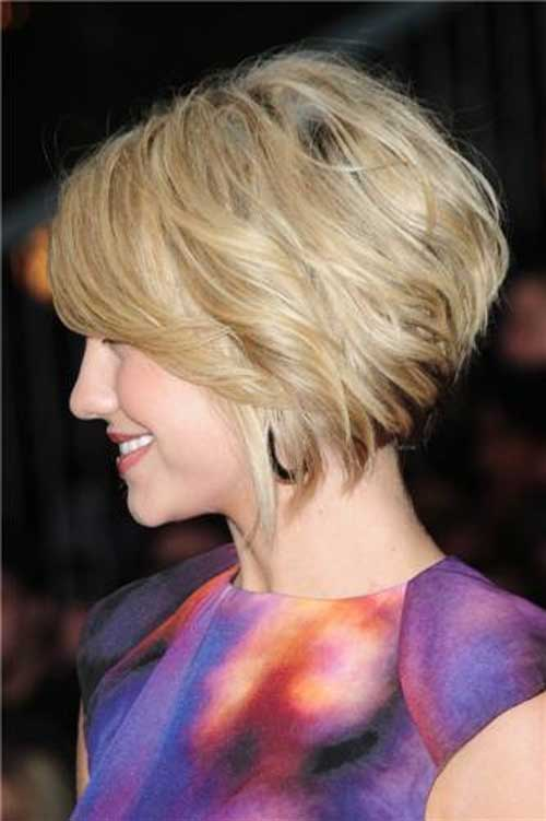 Short bob for wavy hair