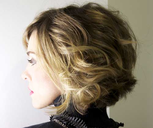 Pics of short brown hair with blonde highlights