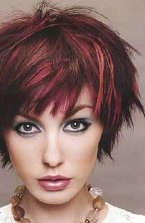 Short brown red hairstyles