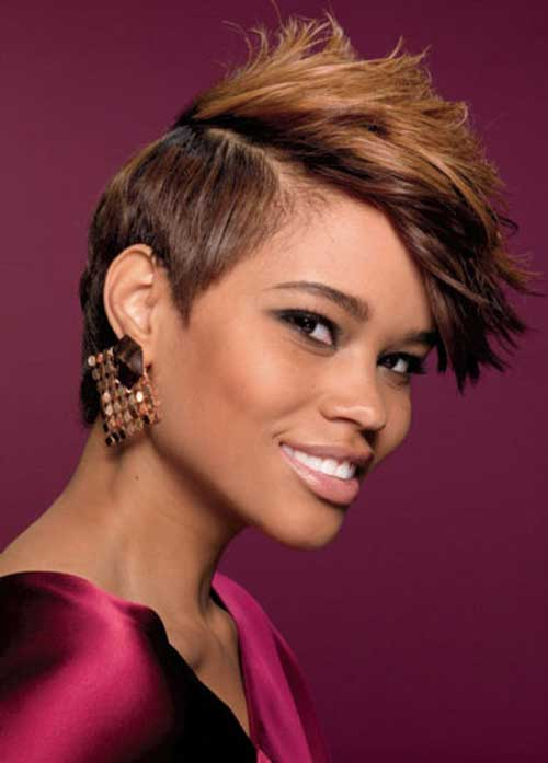 Short choppy haircuts for black women