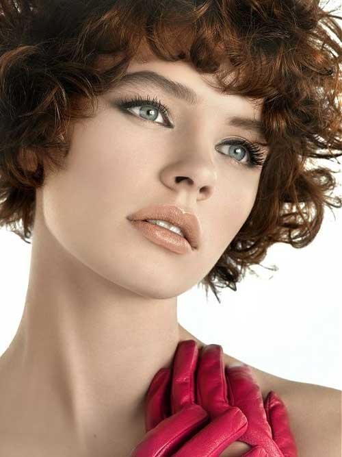 Short curly hairstyles for round faces 2013
