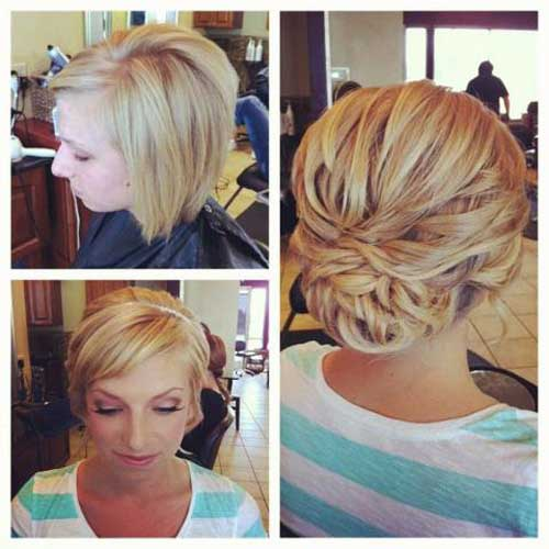Short hair wedding updos 2013