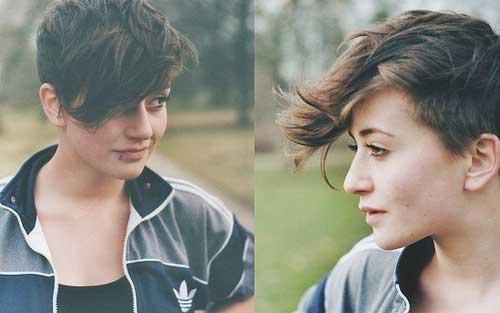 Hairstyles for girls with short hair and bangs