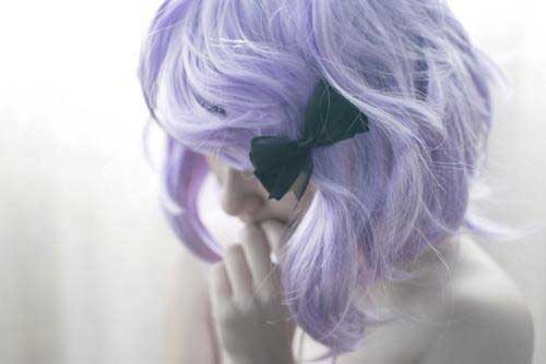 Cute short lilac hair