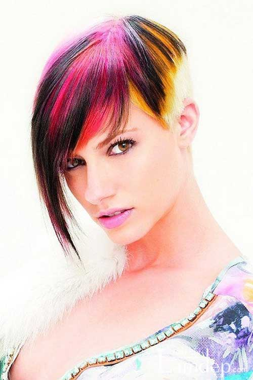 Multi colored highlights for short hair