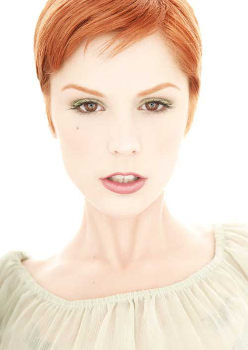 Short red hairstyles 2013
