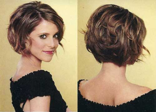 Short stacked bob haircut