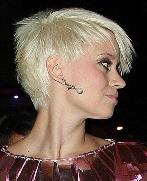 Short strawberry blonde hairstyle