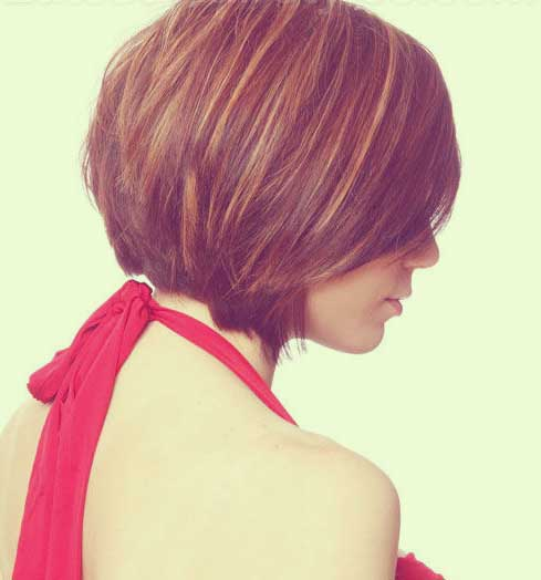 Back Short Tapered Layered Haircuts