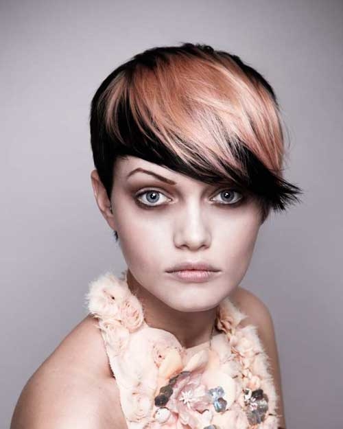 Short two tone haircuts