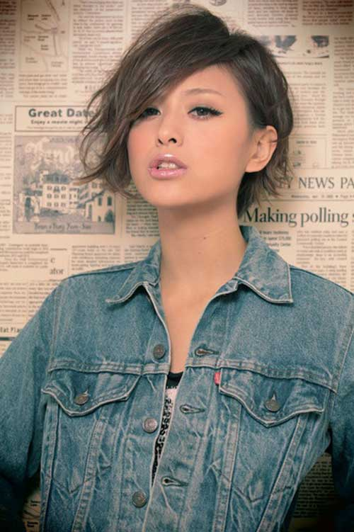 Trendy short Asian hairstyles