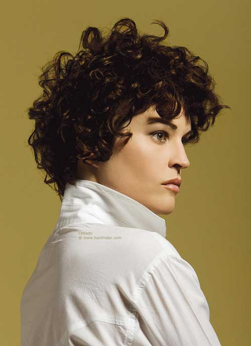 Trendy short curly hairstyles 2013