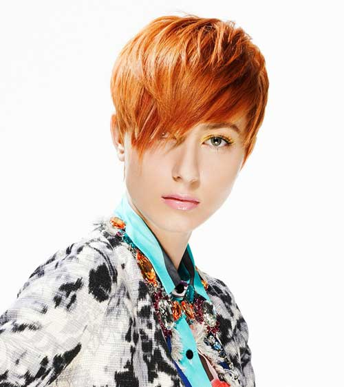 Trendy short red hairstyles