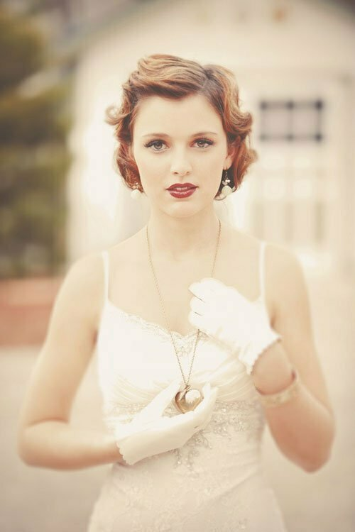 Vintage wedding hairstyles short hair