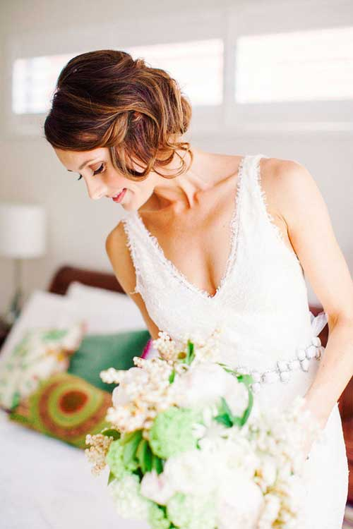 Wedding hairstyle ideas for short hair