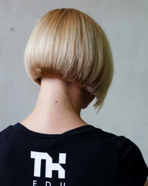 view you can see in this picture below the back view of a bob haircut ...