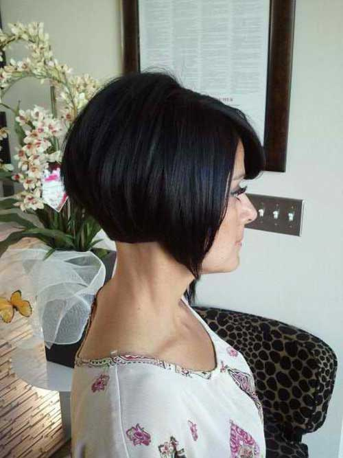 Black inverted bob haircut