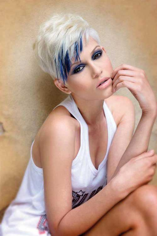 Blonde and blue hair color