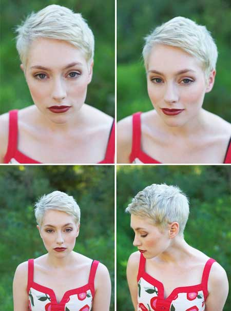 Blonde pixie cut 2013