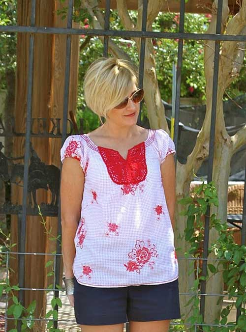 Casual short blonde hairstyles