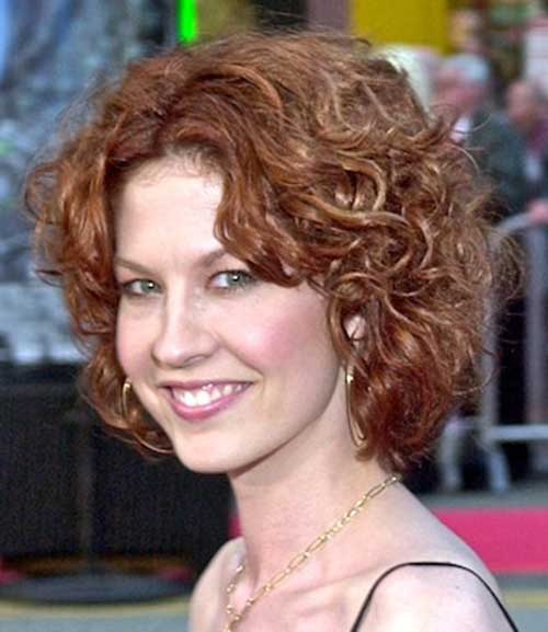 Casual short curly hairstyles for women
