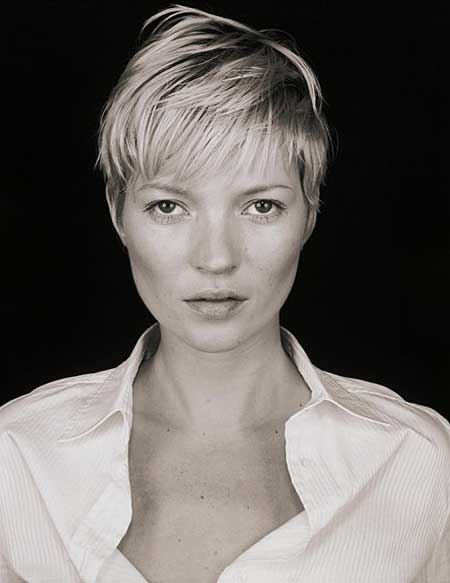 Kate Moss pixie cut