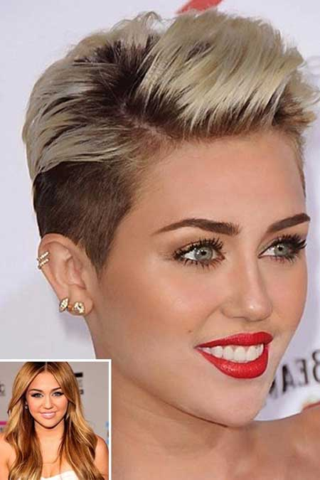 Celebrity short blonde haircut