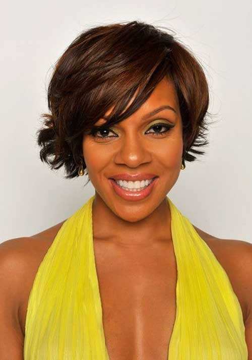 Celebrity short hairstyles for black women
