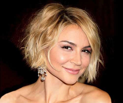 Celebrity short wavy hairstyle