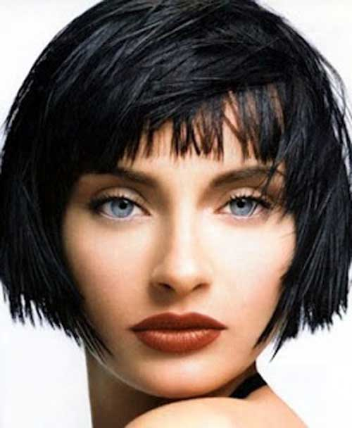 Chopped bob hairstyle