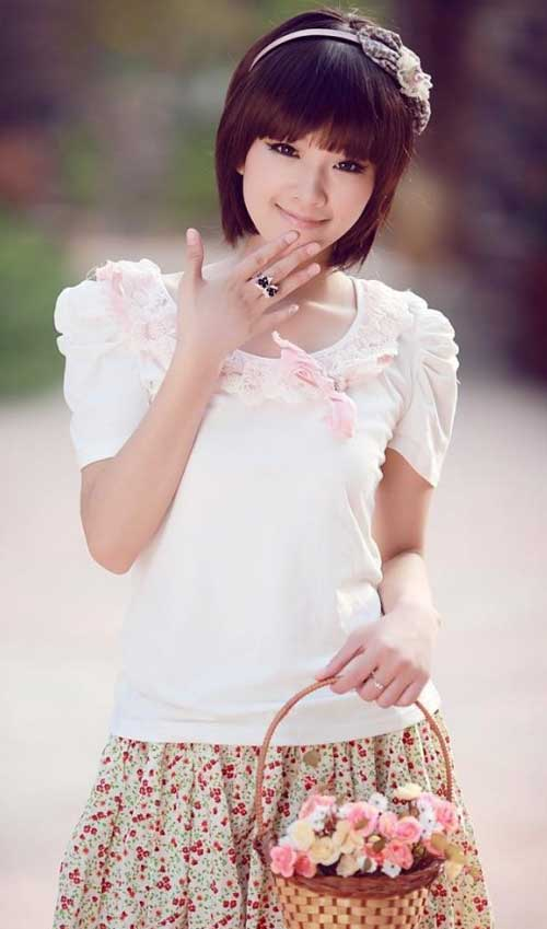 Cute short hairstyles for asian women