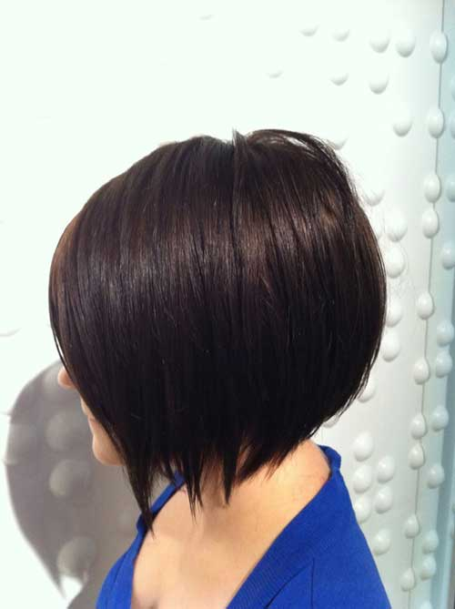 Short dark bob haircuts