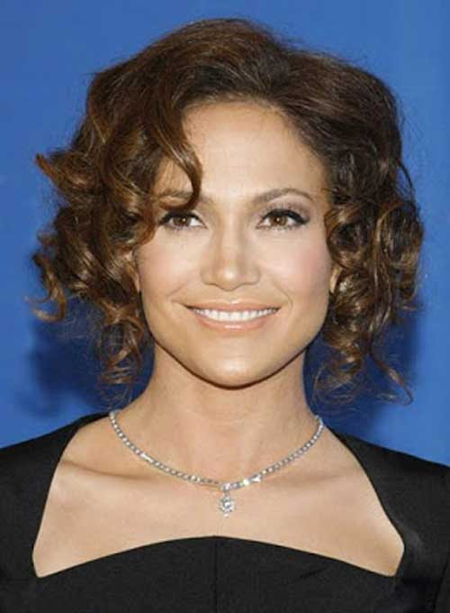 Dark short curly hairstyles