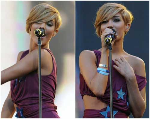 Frankie Sandford short hairstyle