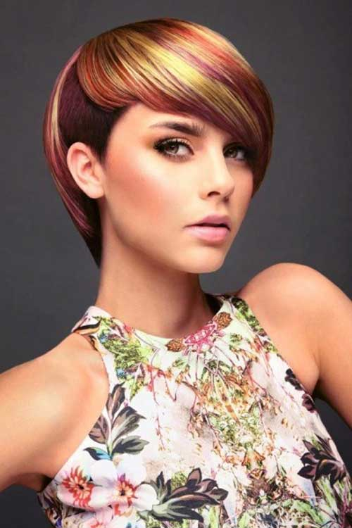 Hair Color Styles for Short Hair-3