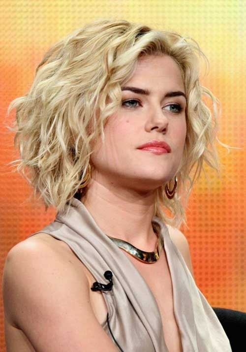 Hairstyles for Short Curly Hair-2