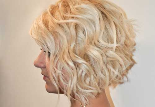 Hairstyles for Short Curly Hair-4
