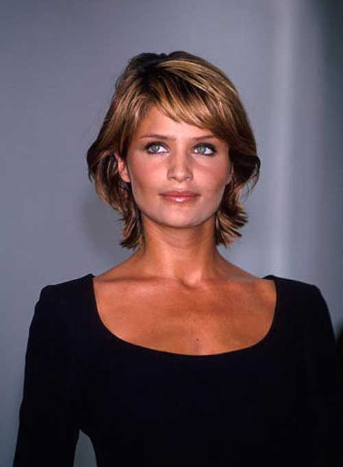 Helena Christensen short haircut