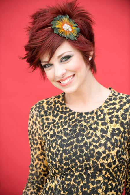 Cute dark red hair color