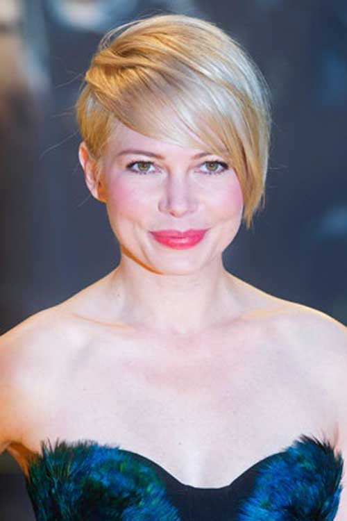 Celebrity short blonde hair