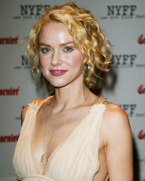 Celebrity short blonde curly hair