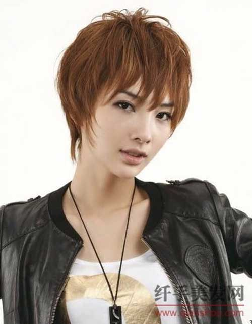Short Asian haircuts with bangs
