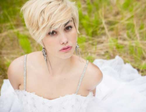 Wedding hairstyles for short blonde hair