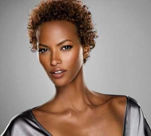 Very short curly haircuts for black women