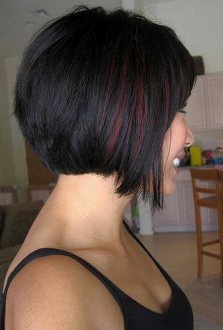 Short dark bob hairstyles