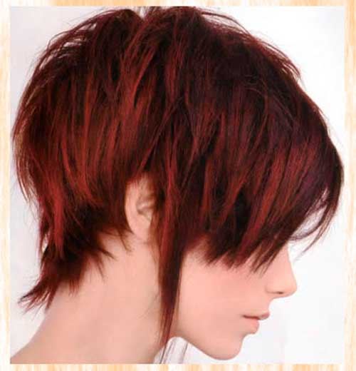 Short dark red hairstyles