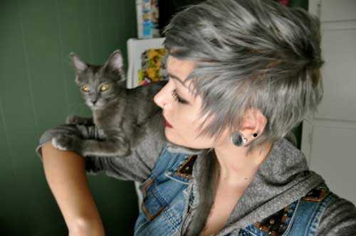 Short grey haircuts for women